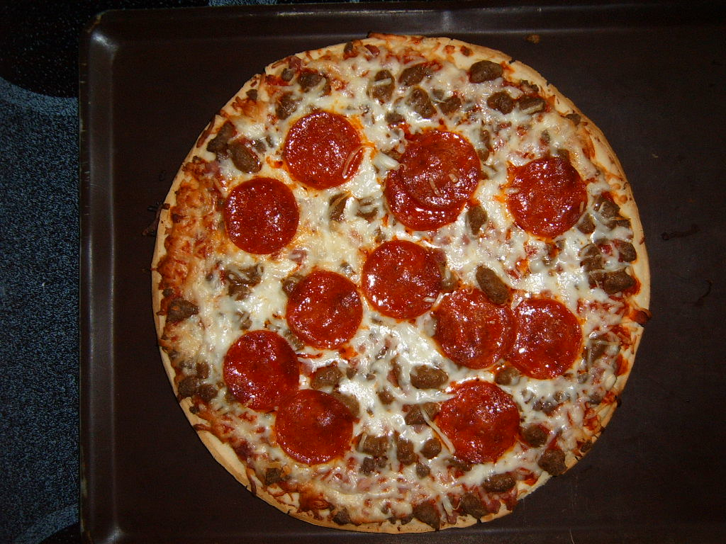 Pizza Top Down Photo For Use In Video Games And The Like