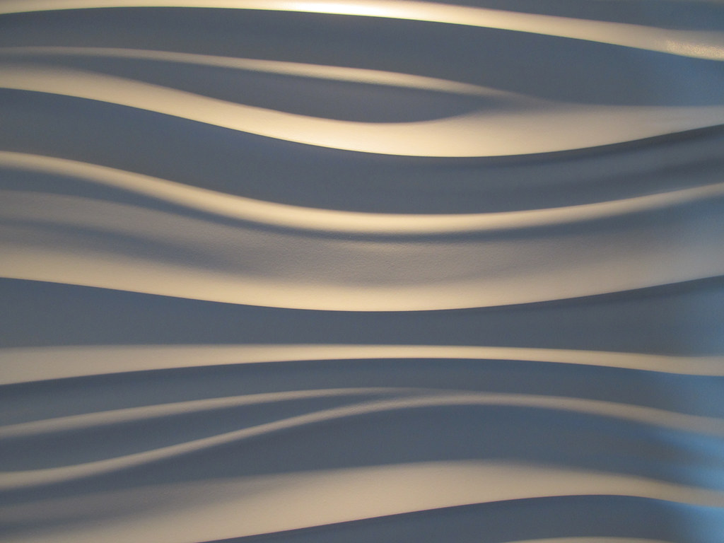 Wavy Wall This Wavy White Plastic Wall Panel Is In The
