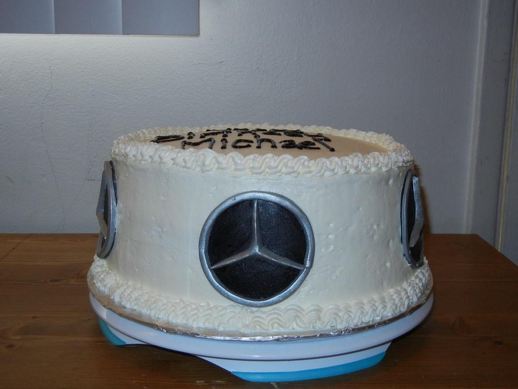 Mercedes Benz Logo Birthday Cake Kristy Ehoff Flickr