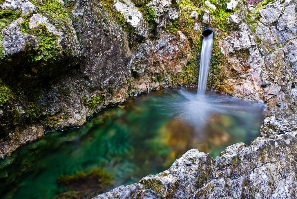 Natural Fountain In Gorge De Covatannaz Works Best When