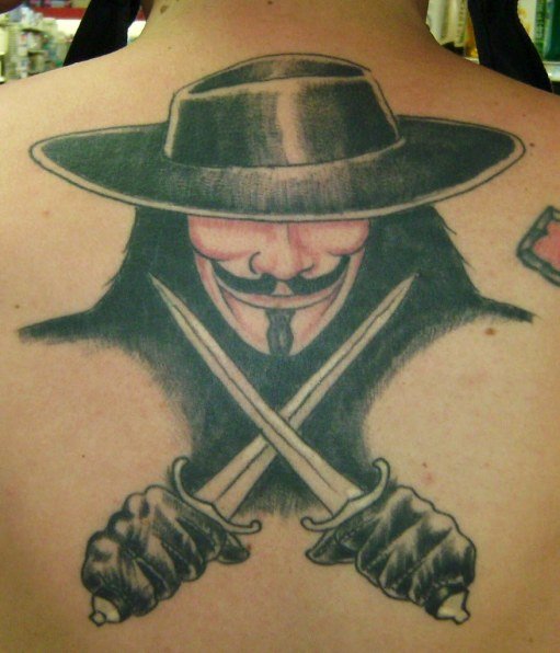 V for Vendetta Tattoo - Art is a weapon of Mass Seduction ...
