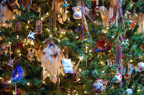 Closeup Up Of Native American Tree Christmas At Frederik