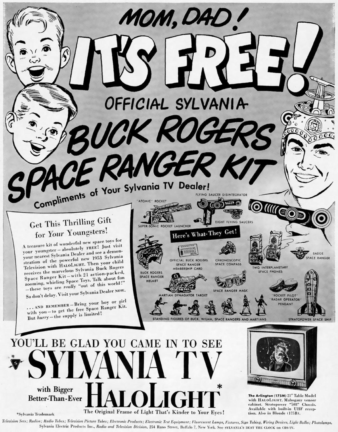 Sylvania featuring Buck Rogers Space Ranger Kit - 1952