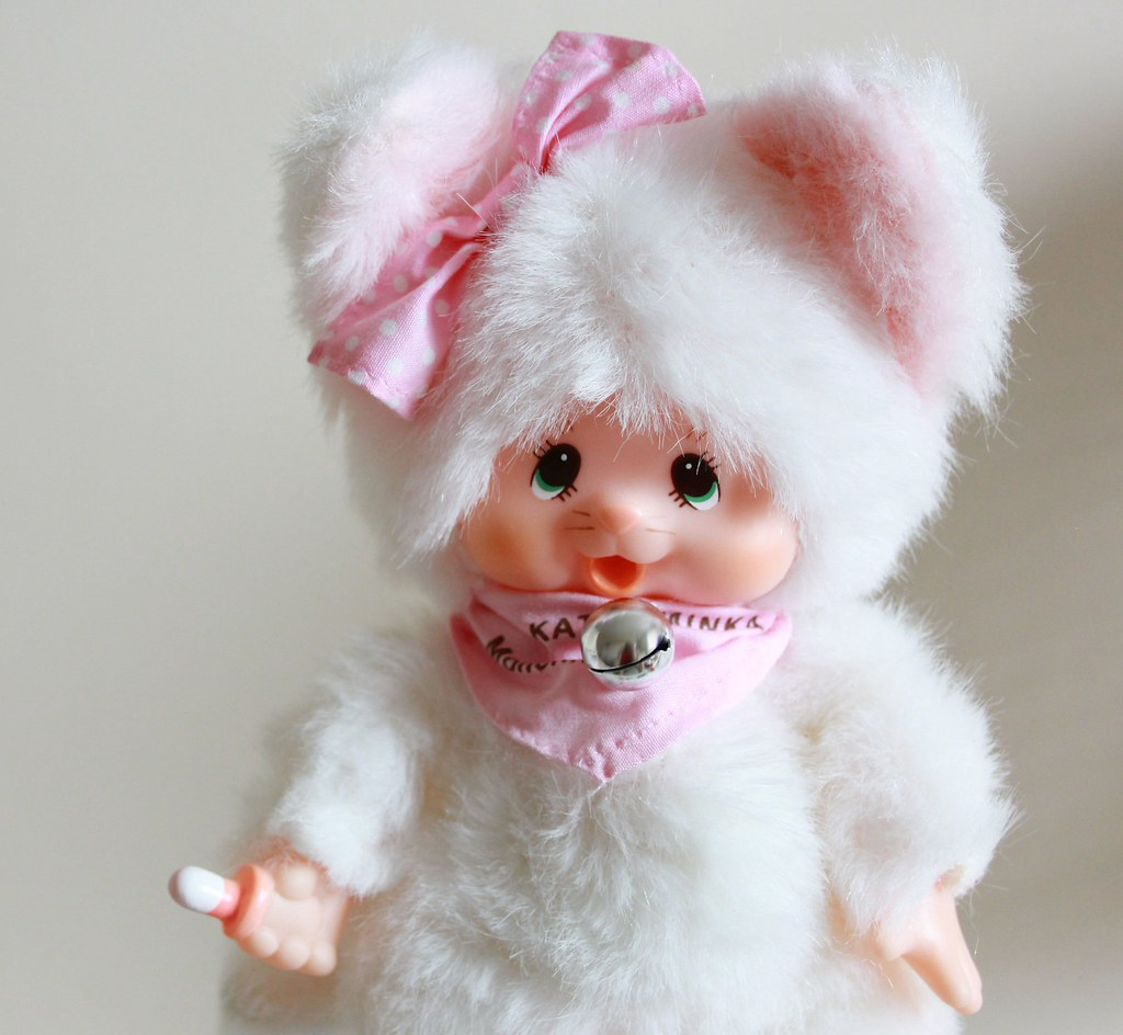 Monchhichi Friend Katze Minka White Monchhichi Friend