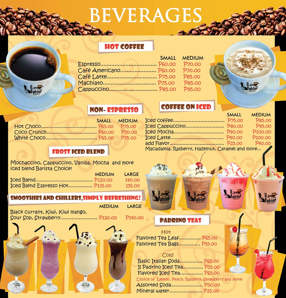 Beverages Menu Judith Rose Perez Flickr