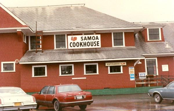 Samoa Cookhouse Samoa CA 1991 The Samoa Cookhouse