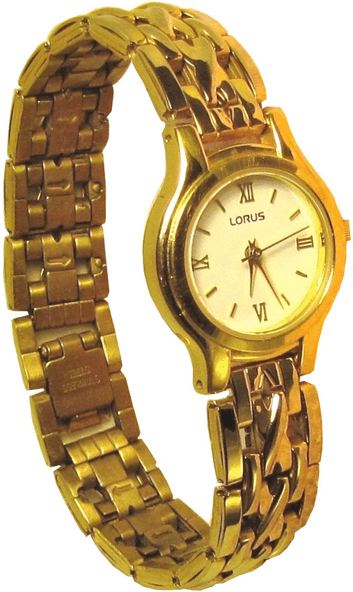 Gold wrist watch clip art lge 12cm | This clipart-style ...