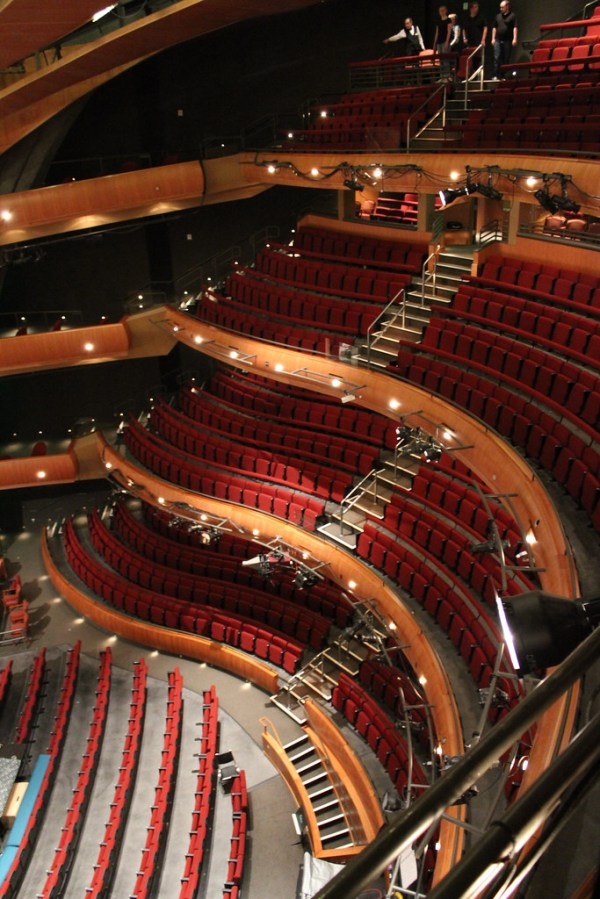 Ellie Caulkins Opera House | Looking down from the next to ...