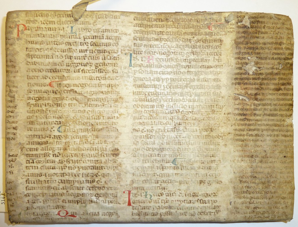 Ms Leaf From A Glossed Copy Of Justinian S Digesta Liber