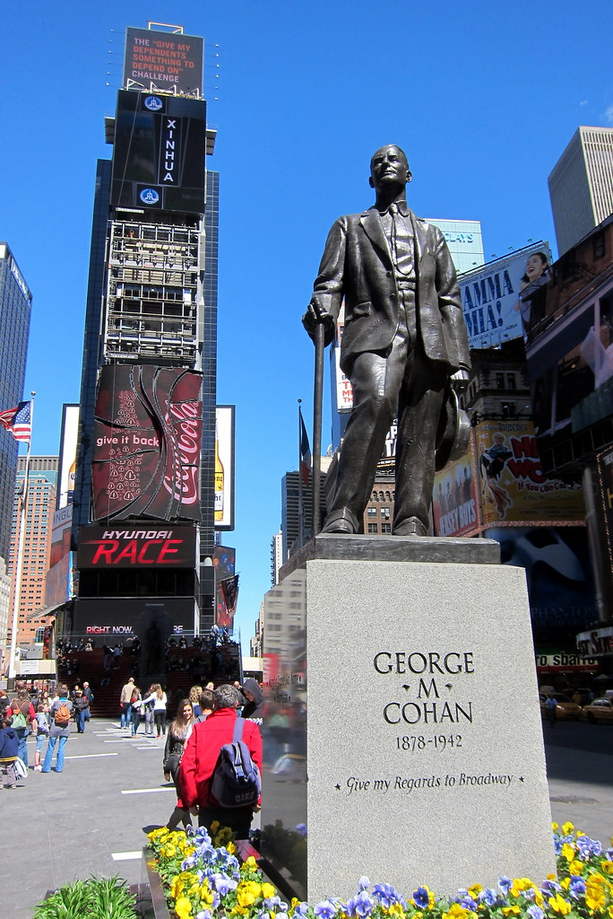 Nyc Times Square Duffy Square George M Cohan Statue