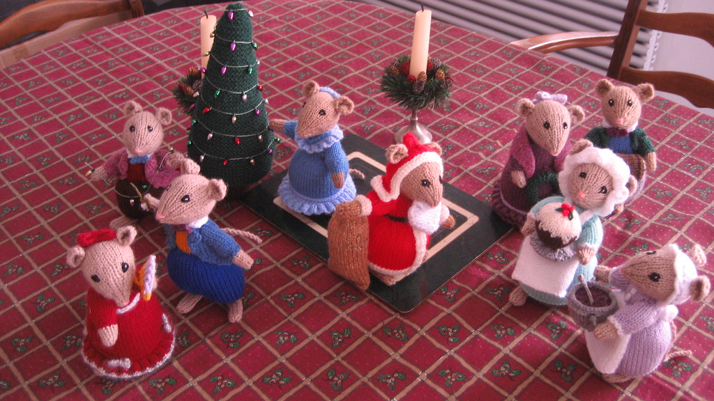 Alan Dart Dickensian Party Mice Just In Time For