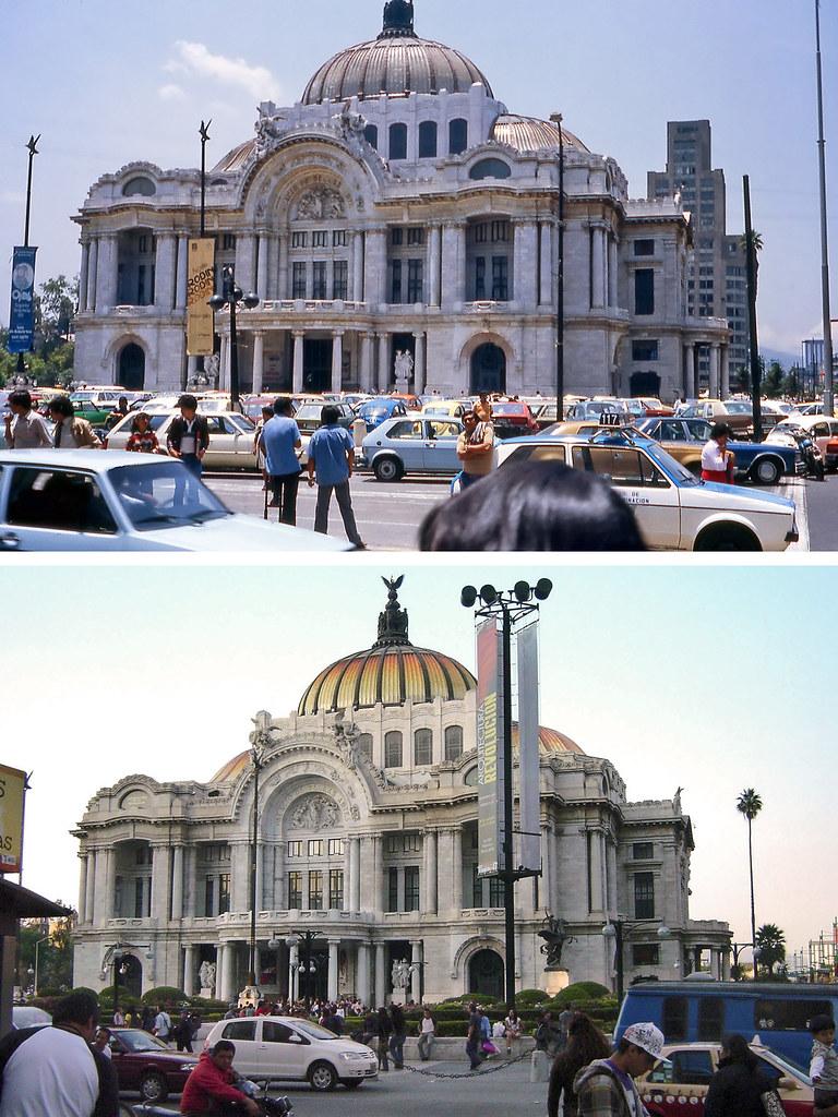 Antes Y Despus Palacio De Bellas Artes Ciudad De Mxic