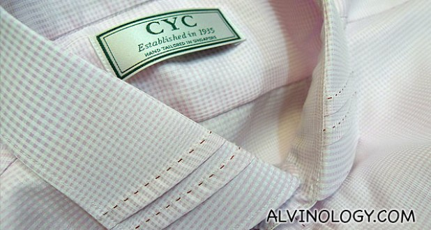 Collars can be customized on CYC's custom-tailored shirts.