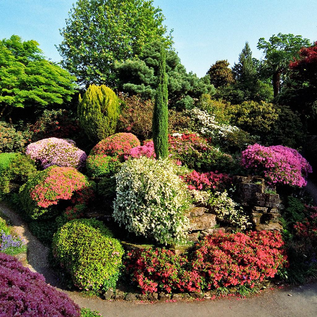 Colorful Rock Garden at Leonardslee Gardens, West Sussex ... on Rock Backyard  id=83828