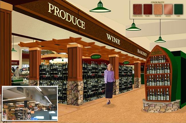 Interior Grocery Design Produce Area Design Conceptual