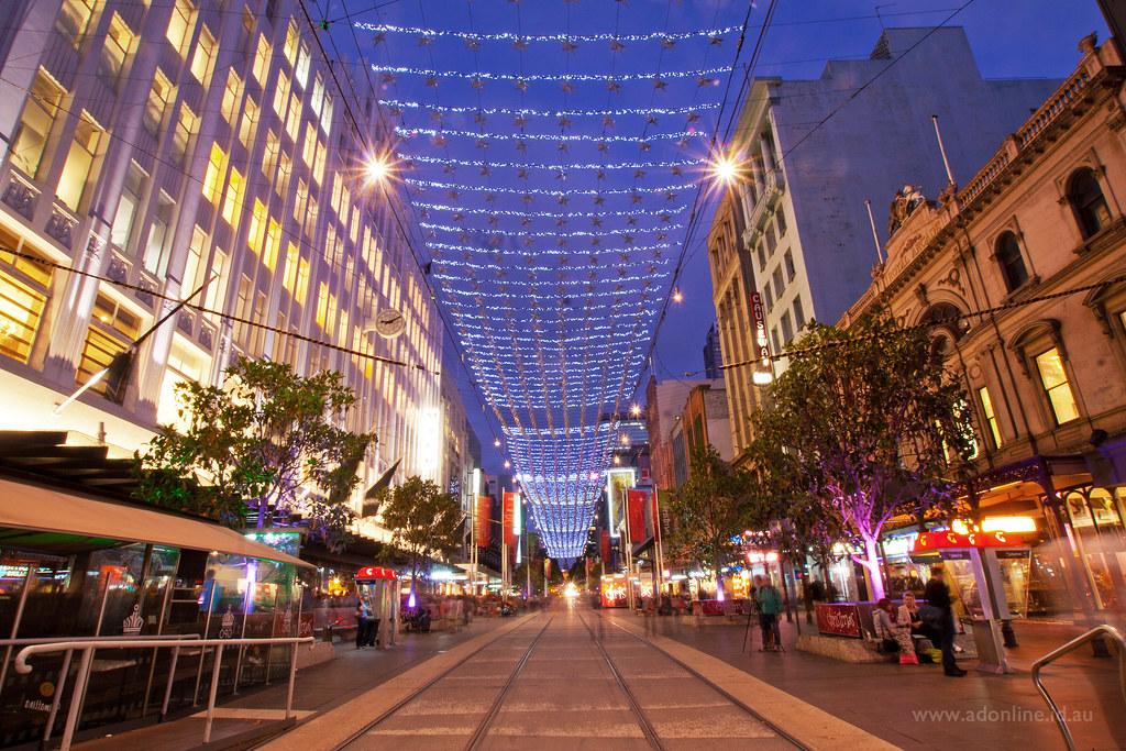 Christmas In Bourke Street Mall Melbournes Bourke