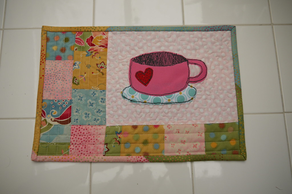 Tea Cup Mug Rug Heres One I Made For The SewHappyGeek