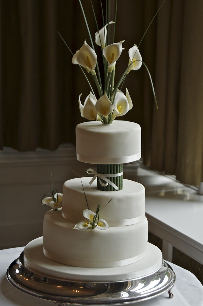 Calla Lily Wedding Cake Made For My Friends Wedding A