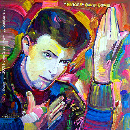 David Bowie Heroes Album Cover Painting You Can See My