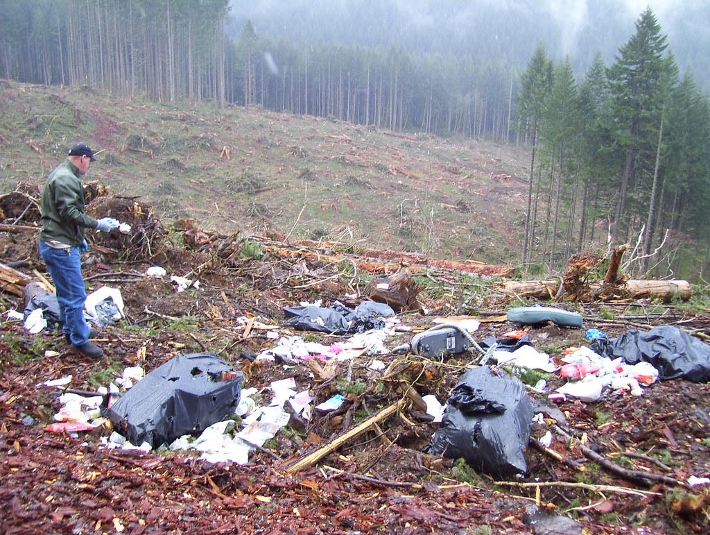 Illegal Garbage Dump In Yacolt Burn State Forest Tim