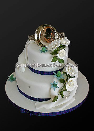 Wedding Cake 741 Scottish Theme Paula Jane Bourke