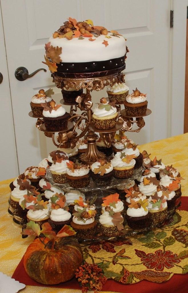 Fall Wedding Cupcake Tower Pumpkin Southern Buttermilk