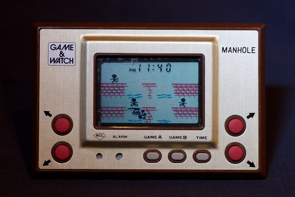 Classic Nintento Gaming Game Amp Watch Manhole Early