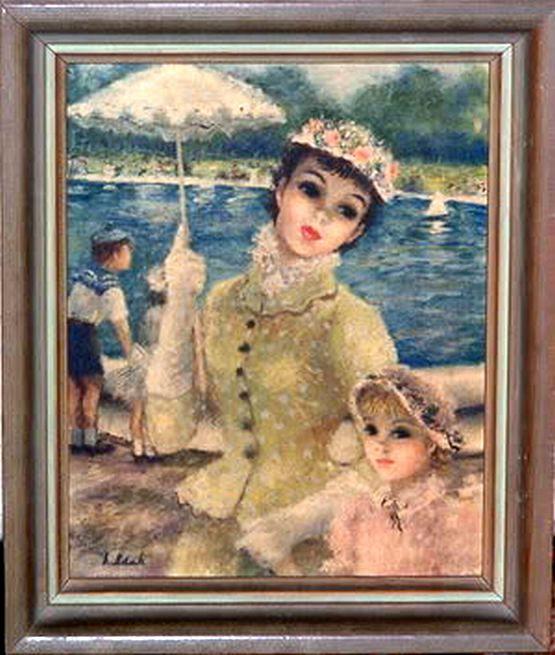 Jeffe Cherry Huldah 1901 2001 American Artist The Sail