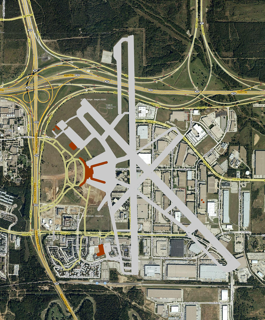 Greater Southwest International Airport Map This Is An