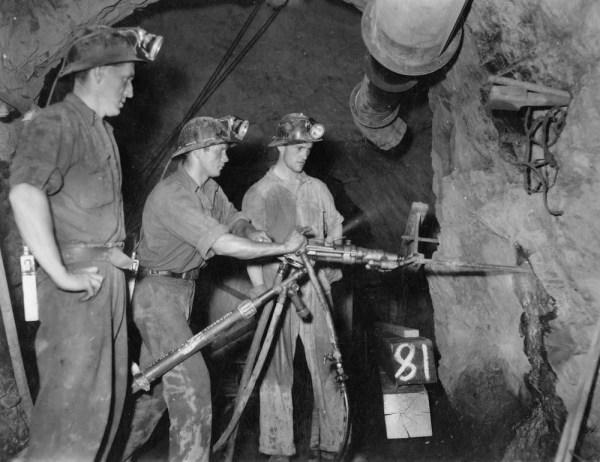 Miners drilling underground in Mount Isa ca 1954 Flickr