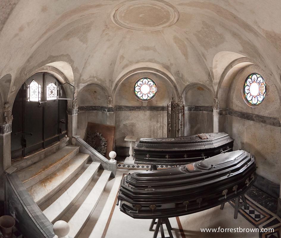 Recoleta Mausoleum Panorama Panorama Of The Interior Of