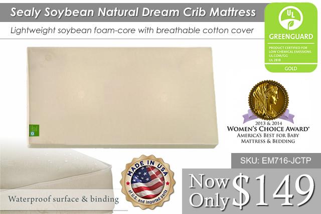 Sealy Soybean Natural Dream Crib Mattress