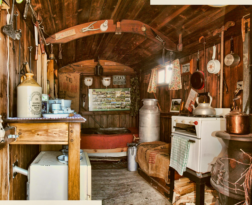 The Interior Of A Restored Shepherds Hut In Southern