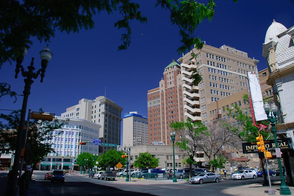 El Pasos Pioneer Plaza Historic Buildings Visible In This Flickr