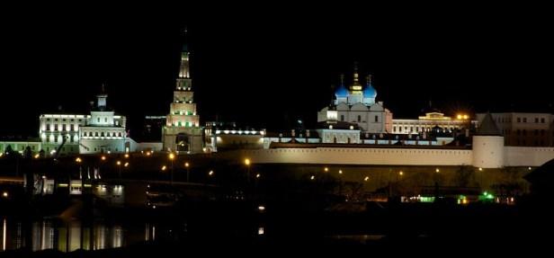 Казанский кремль, ночная подсветка