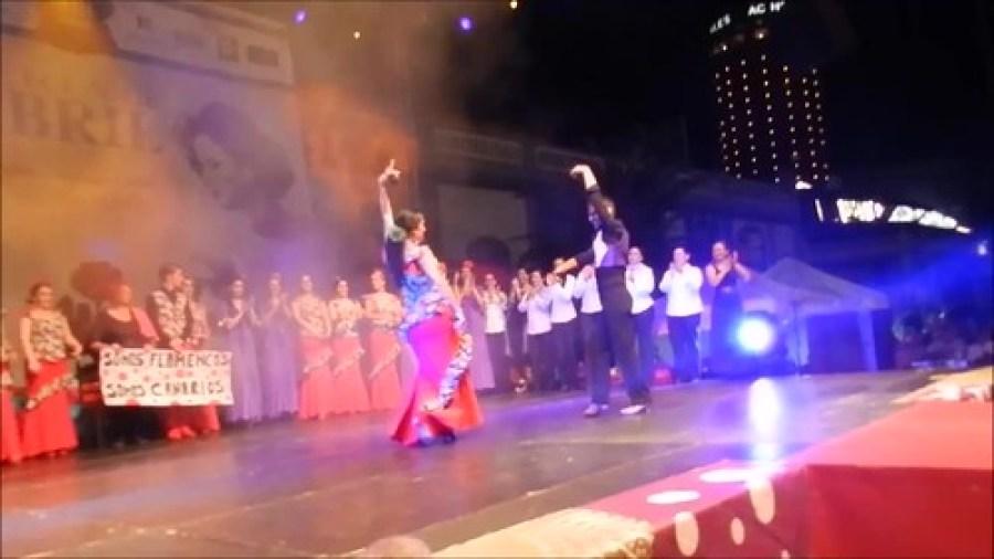 Gala Apertura Paulina y Javier del Real por sevillanas VIII Feria Abril Las Palmas de Gran Canaria