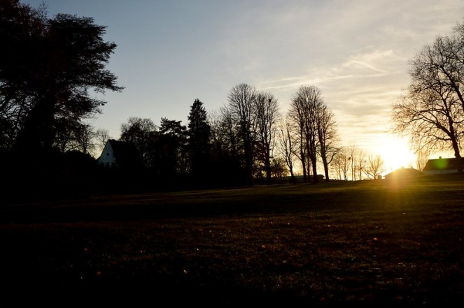 Sunset, photography, winter, rambouillet, france
