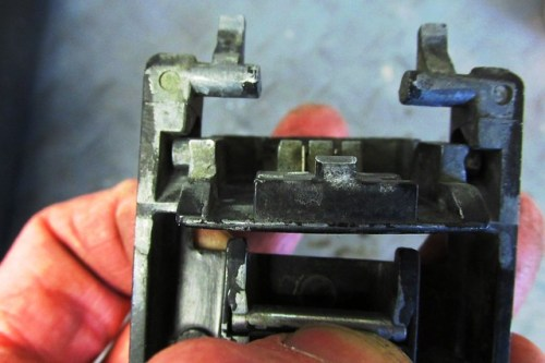 Lock Mechanism Slides Into Hinge Pin Slots of Latch Casting