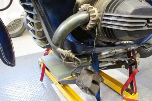 Securing Brake Caliper to Remove Tension on Rubbder Brake Line
