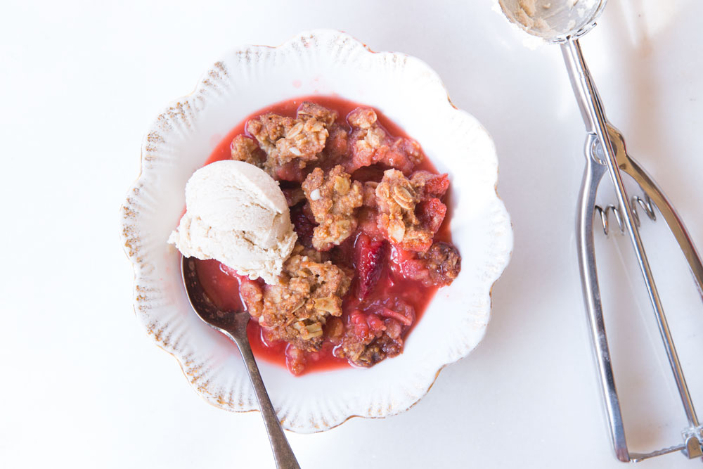 Strawberry-Rhubarb Crisp