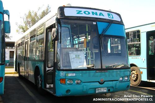 Transantiago - Metbus - Marcopolo Viale / Mercedes Benz (XN6734)