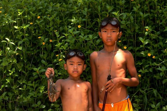 Village Boys Fishing at Timbaban River