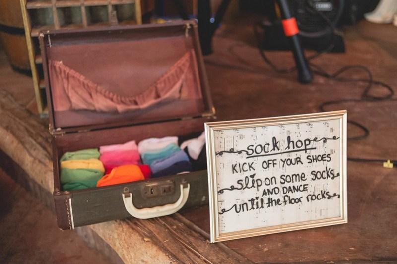 Sock Hop Box via @offbeatbride