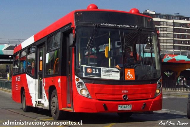 Transantiago C11 | Redbus | Neobus Mega - Mercedes Benz / MX4326