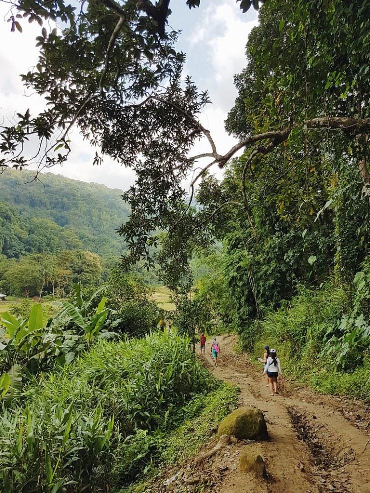 on our way to tangadan falls