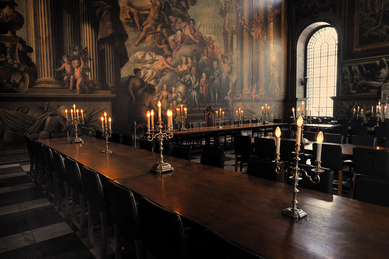 The Dinning Room The Painted Hall In The Old Royal Naval