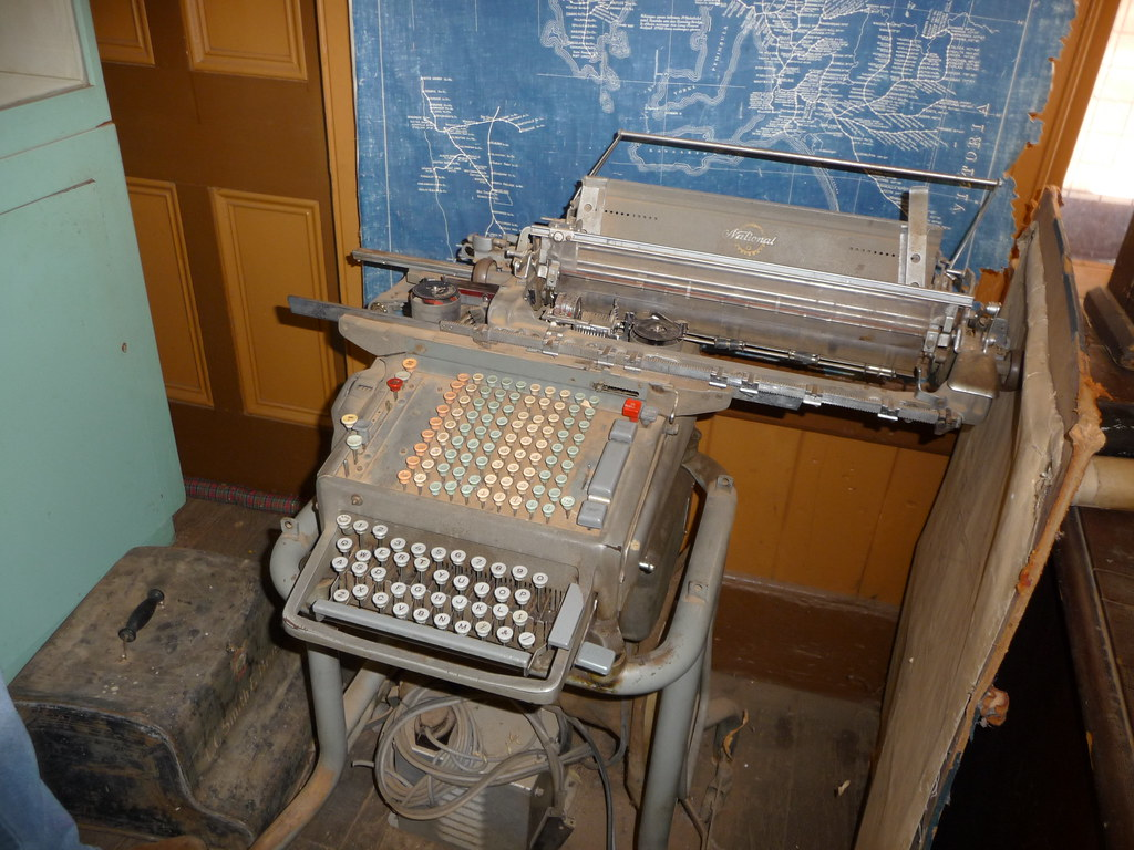 Ncr Class 3000 Accounting Machine In A Museum In Broken