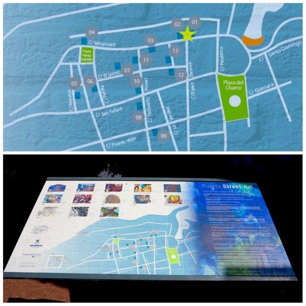 Mapa murales en puerto de la cruz