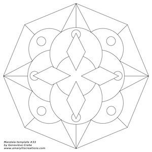 Mandala template 33