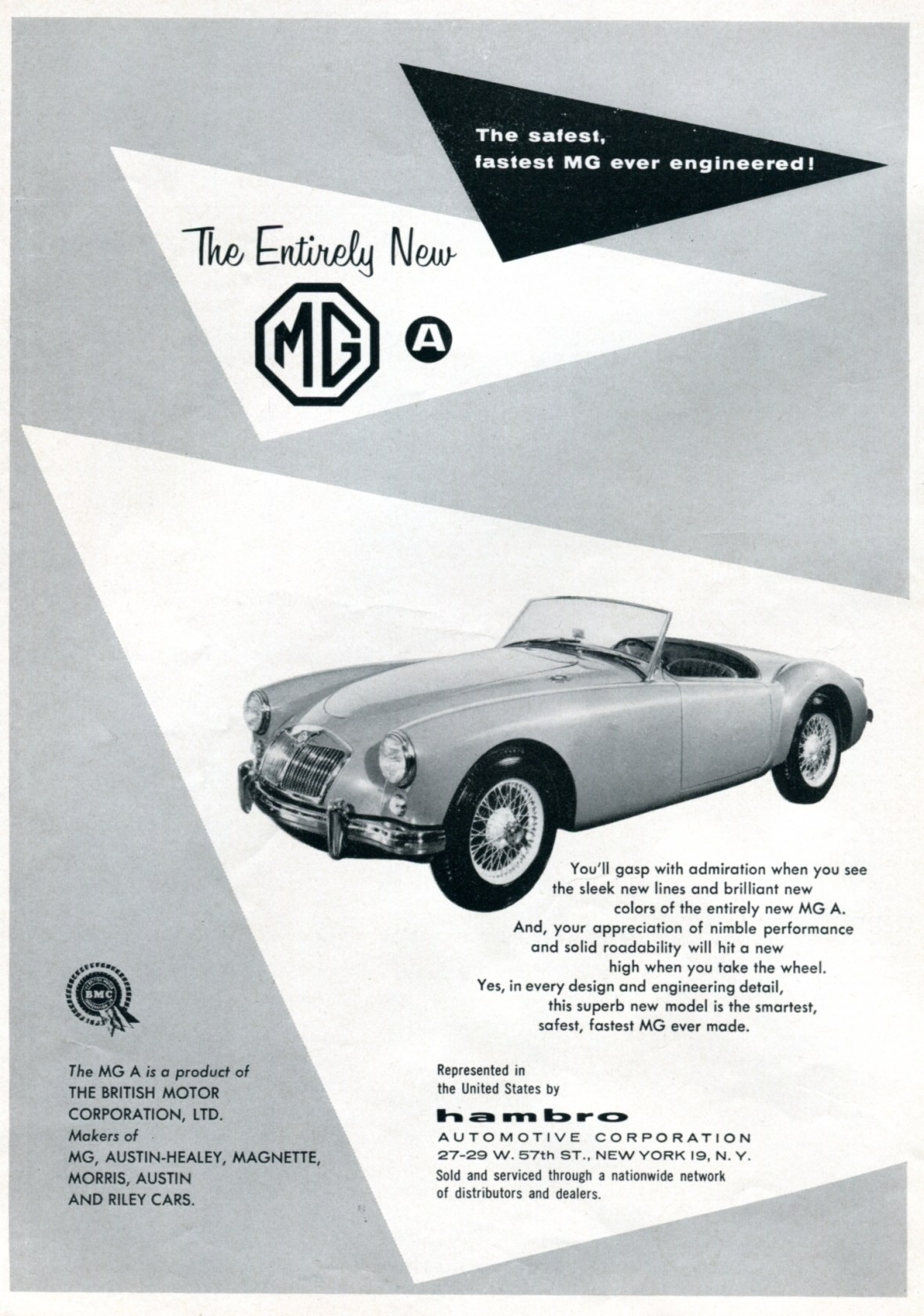 1956 MG MGA - published in Road and Track - August 1956